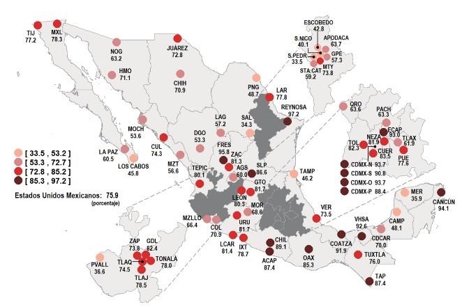 Nezahualcoyotl Mexico Map.In Ecatepec And Nezahualcoyotl The Insecurity Perception Increases