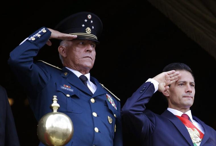 Salvador Cienfuegos Zepeda, Enrique Pena Nieto